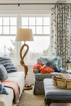 Home on the Waves Cohasset, Massachusetts   Photography Michael J. Lee This ocean-front shingled Gambrel style house is home to a young family with little kids who lead an active, outdoor lifestyle…