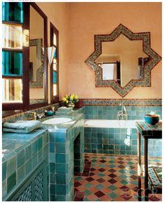 Yves Saint Laurent bathroom Morocco