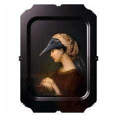 ibride Alma Galerie De Portraits Tray Wall Art: Beautiful artwork for your wall or table from the Galerie de Portraits collection by French artist Rachel Convers. In theory, a tray - resistant to heat and water and even dishwasher proof - but everyone we know puts their Ibride masterpiece up on their wall. Wall-mounting supplied. Made in France.