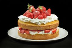 Spring is in the air, and that means Strawberries! You'll love this Italian version of a Strawberry Shortcake, with the addition of lemoncello syrup, and Strawberries piled high with lots of whipped cream!