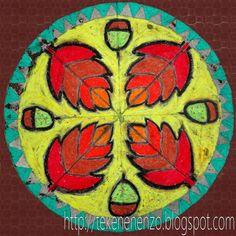 Tekenen en zo: Mandala met herfstblaadjes