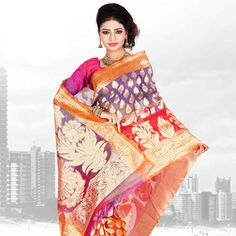 #Red Silk #Saree with Blouse
