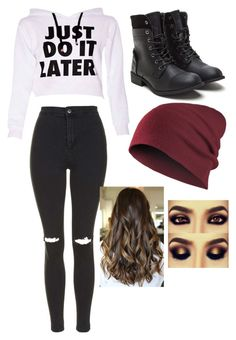 """""""Saturdays"""" by mels6104 ❤ liked on Polyvore featuring Topshop"""