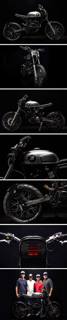 """A truly stunning aesthetic that's rugged and fierce on the eyes – the 1994 Honda NX350 Sahara is known to these guys as """"Old Power."""" It may be hard to see some of the old NX350, and this is due to the build – the guys at Republica Motorcicletas built this two-wheeler around a fuel tank from a 1965 Jawa, and the result is mesmerizing."""