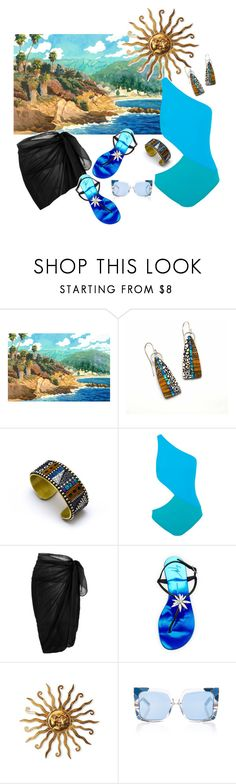"""Watercolor"" by nisha-naenae ❤ liked on Polyvore featuring Araks, Giuseppe Zanotti and Pared"