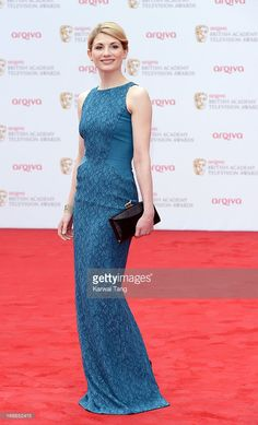 Jodie Whittaker attends the Arqiva British Academy Television Awards 2013 at the Royal Festival Hall on May 2013 in London, England. Doctor Who 12, 13th Doctor, Good Doctor, Jodi Whittaker, Bafta Red Carpet, Festival Hall, Nice Dresses, Formal Dresses, Dr Who