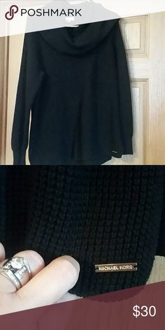 Michael kors cowl neck sweater Nwot, size L beautiful michael kors roomy comfy black cowl neck sweater michael kors  Sweaters