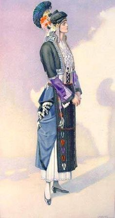 Macedonian Costume:  Greek Festive Dress (#Macedonia, Roumlouki) northern #Greece