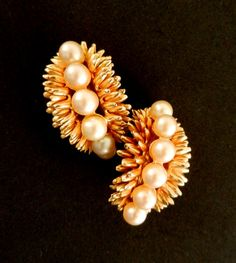 Original vintage 1950 Italian  pinkish pearls and by RAKcreations, $44.00