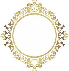 Resultado de imagem para brasão dourado casamento vetor