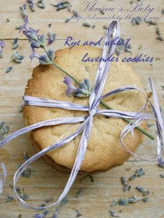 Rye and Wheat Lavender Cookies