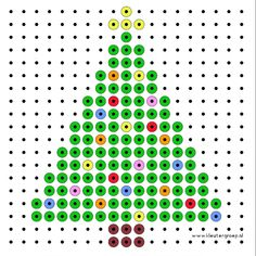 Kralenplank kerstboom