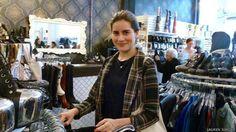 Parabéns Lauren!  Lauren decidiu usar apenas roupas de segunda mão que, quando ficam velhas, são recicladas  (Foto: Lauren Singer)