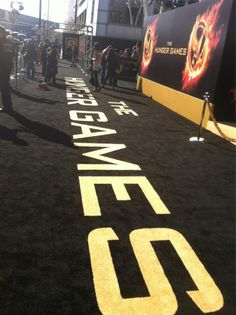 """The """"Charcoal Black"""" Carpet at the World Premiere of The Hunger Games!"""