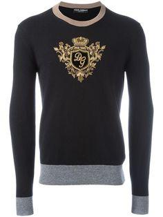 Sweater for Men Jumper On Sale in Outlet, Black, Silk, 2017, S Dolce & Gabbana