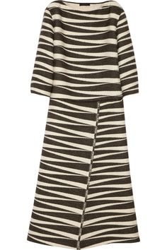 The Row | Seco alpaca and cotton-blend jacquard dress | NET-A-PORTER.COM