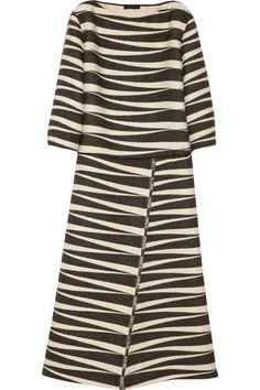 The Row|Seco alpaca and cotton-blend jacquard dress|NET-A-PORTER.COM