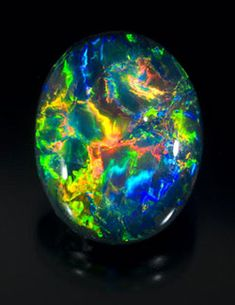 Black opal from Lightning Ridge, Australia.