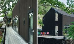 This is very wonderful....might be too dark for our amount of exposure.  prefab-home-black-barn