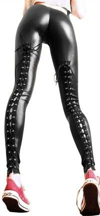 I think you'll like Sexy Gothic Punk Wet Look PVC Like Lace Up Back Leggings Pants Clubwear @as151. Add it to your wishlist!  http://www.wish.com/c/53d5ef7e46188e7d95728e58