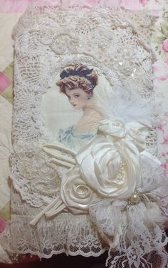 Shabby chic altered composition book