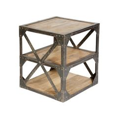 Industrial Side Table I, $425, now featured on Fab.