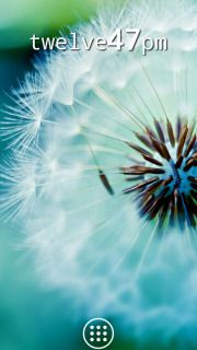 Dandelion Flower Clock Android Mobile Theme HTC mobile theme.