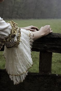 elegant, and soft. lace and ruffles..how to translate?   Girl Lost In A Fairytale