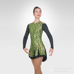 Celtic figure skating long sleeve dress - Performing Outfit Design Studio Store Gymnastics Outfits, Gymnastics Leotards, Latin Ballroom Dresses, Ice Skating Dresses, Figure Skating, Dance Costumes, New Product, Dress Making, Color Combinations