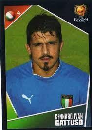 Gennaro Gattuso of Italy. Gennaro Gattuso, Retro Football, European Championships, Glasgow, World Cup, Soccer, Hero, Italy, Baseball Cards