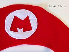 DIY Mario Hat - Party Favor!