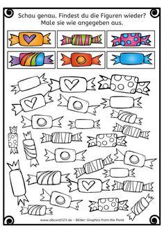 Do you recognize the figures again? (Halloween-Version) Do you recognize the figures again? Kindergarten Math Worksheets, Preschool Activities, Primary School, Pre School, Autism Activities, Childhood Education, Kids And Parenting, Teaching, Halloween