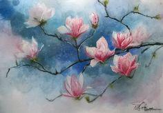Magnolia- watorcolor