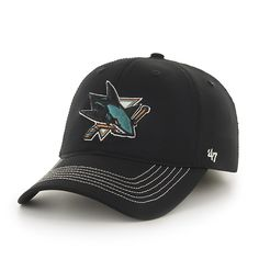 San Jose Sharks Game Time Closer Black 47 Brand Stretch Fit Hat