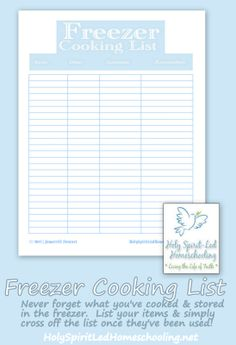 Once A Month Cooking and FREE Freezer Cooking List Printable