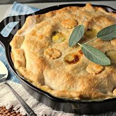 A delicious chicken pot pie made from scratch with carrots, peas, and celery for a comfort food classic. Batch Cooking, Cooking Recipes, Sauce Recipes, Pie Recipes, Chicken Recipes, Dinner Recipes, Vegetable Pie, Chicken And Vegetables, Different Recipes