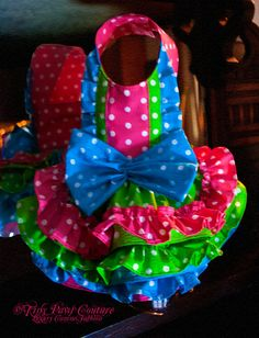 Fiesta Princess Couture Dog Dress Multi by tinypawscouture, $79.99