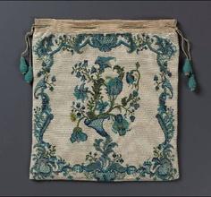 Drawstring bag French ca. 1715-1775