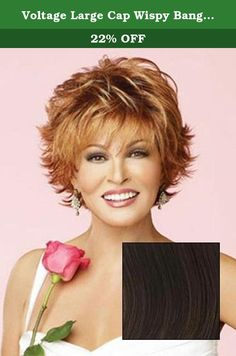 Voltage Large Cap Wispy Bang Short Tousled Raquel Welch Wigs - Color R10. Short barely waved all over waves mean this stuning no fuss salon cut can be worn full smooth or somewhere in between. All Raquel Welch wigs offer the same fashion styling previously available only to top fashion models and Hollywood stars. Featuring the latest in unique state of the art wig technology the collection includes our patented Memory Cap for a custom like fit and comfort our exclusive Kanekalon Vibralite...