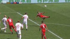 Shaqiri's spectacular goal. Switzerland v Poland.