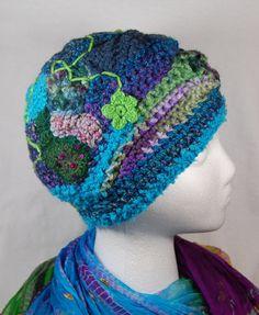 Freeform... Hmm good idea! Freeform Crochet Hat  Crochet Hat  Teal by wildlywhimsical on Etsy, $38.00