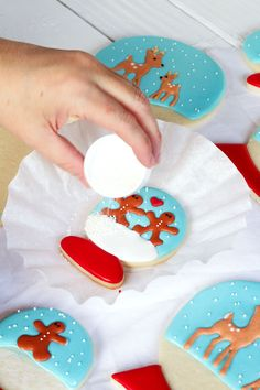 Snow Globe Cookies - Sugar Cookies Decorated with Royal Icing by thebearfootbaker.com