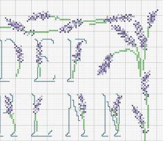 alphabet lavande (3) - toutes-les-grilles.com grilles gratuites point de croix crochet tricot amigurumi