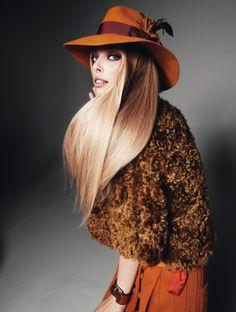 Tanya Dziahileva photographiée par Eric Broms pour Elle Suède Octobre 2011