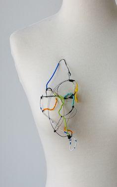ELIZABETH BAILEY CHRISTENBURY-USA, Brooch, Handmade Biodegradable plastic jewelry