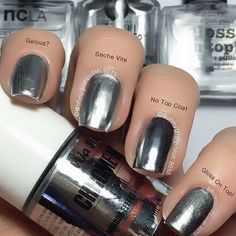 Ok So Here Is Miasecret Chrome Mirror Under 3 Top Coats Index Nail