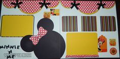 This layout was custom and handmade by longtime scrapbooking artist, Sharon Dalton. I would be happy to recreate this layout to your photo size