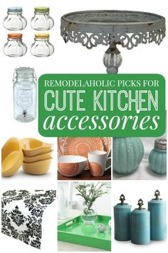 Browse our favorite cute, unique kitchen accessories! Cute Kitchen, Kitchen Items, Kitchen Gadgets, Kitchen Dining, Kitchen Decor, Turquoise Kitchen, Kitchen Accessories, Decorating Tips, Home Kitchens