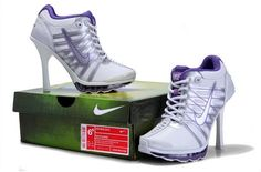 Nike Air Max High Heels Purple White3