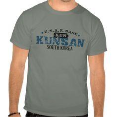 Air Force Base - Kunsan, South Korea T Shirts